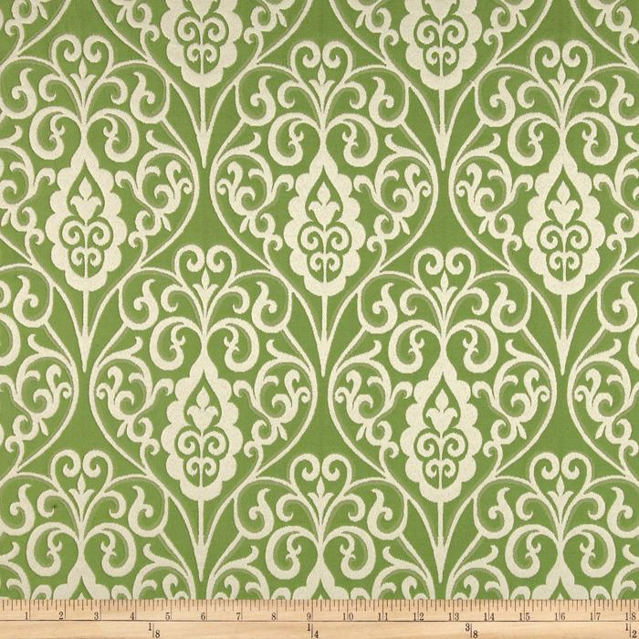 Waverly Williamsburg Bristol Scroll Jacquard Grass
