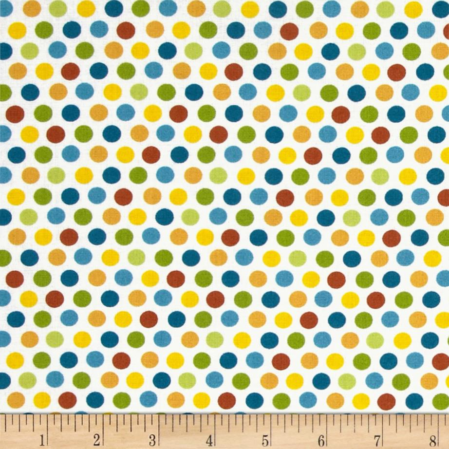 Sunshine Zoo Polka Dots White