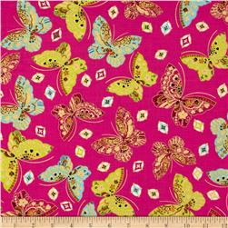Kanvas Sakura Metallic Butterfly Jewel Pink
