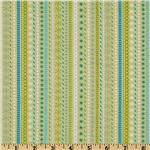 Santa&#39;s Workshop Stripe Green