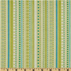 Santa's Workshop Stripe Green