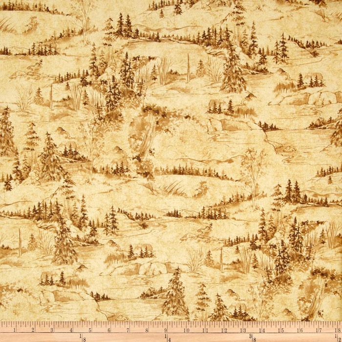 Wilderness Park Scenic Toile Tan