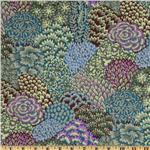 216687 Kaffe Fassett Collective Fall Oriental Trees Stone