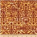Windflower Flannel Damask Red