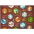 Puppy Love Hexagon Puppy Patches Brown