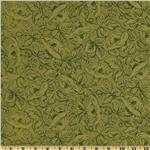 0272280 Sweet Home Floral Tonal Green