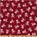 Pirates &amp; Indians Skull &amp; Bones Red