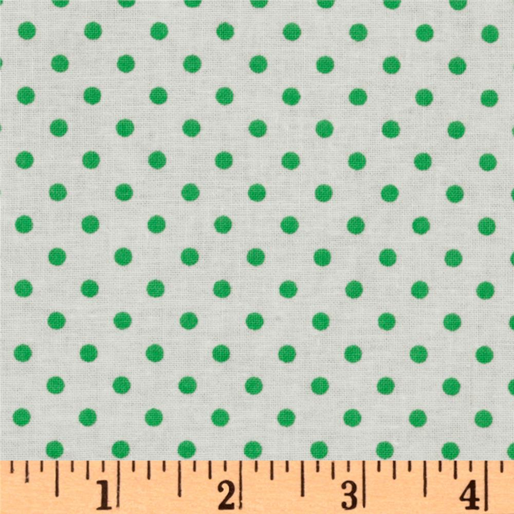 Crazy for Dots &amp; Stripes Dottie White/Green