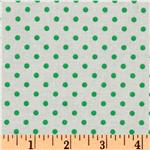 Crazy for Dots & Stripes Dottie White/Green
