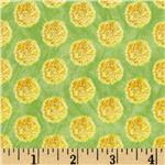 Impressions Floral Buttons Green