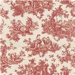 WV-082 Waverly Toile Sweet Pastimes Crimson