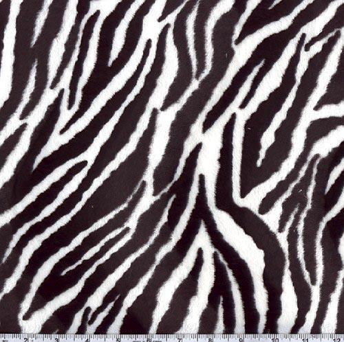 Soft Fur Zebra Black/White
