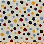 Crazy for Dots &amp; Stripes Tossed Dots Ivory/Red/Black