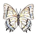 Large Butterfly Iron On Sequin Applique Ivory