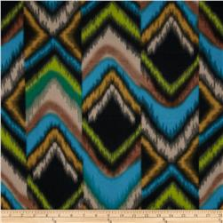 Fleece Striped Ikat Forest