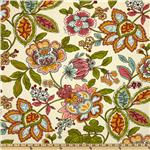 218447 Covington Sadie Floral Aqua/Orange
