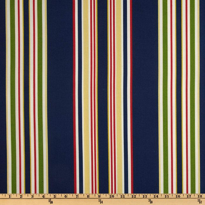 Suburban Home Indoor/Outdoor Brazabon Stripe Navy