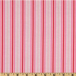 Folk Heart Stripe Pink/Raspberry