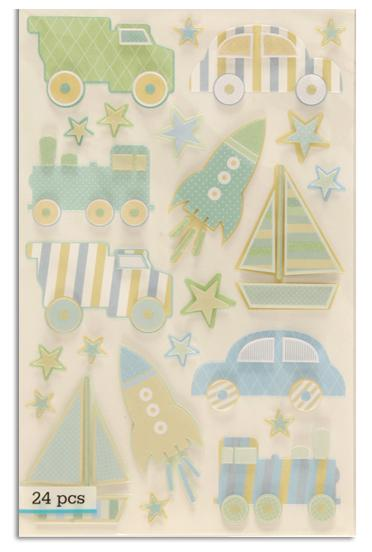 Martha Stewart Crafts Truck, Car & Rocket Stickers
