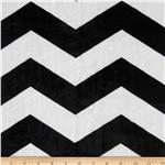 Minky Cuddle Chevron Black/White