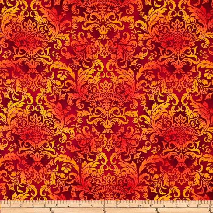 Botanica II Spring Damask Red