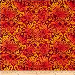 225990 Botanica II Spring Damask Red