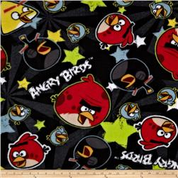 Angry Birds Fleece Stars Black