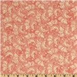 French Twist Scroll Pink/White