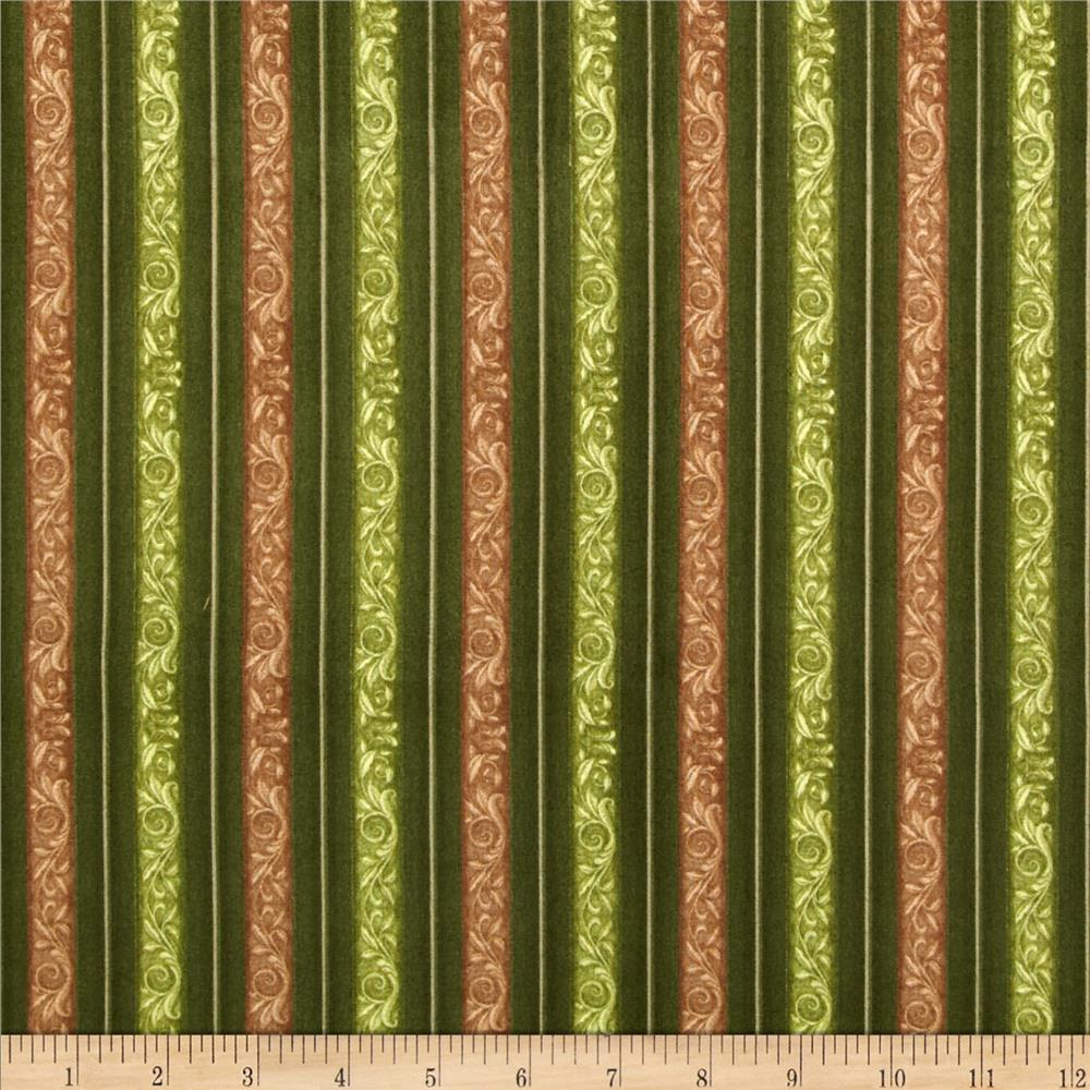 Fruit Basket Decorative Stripe Green