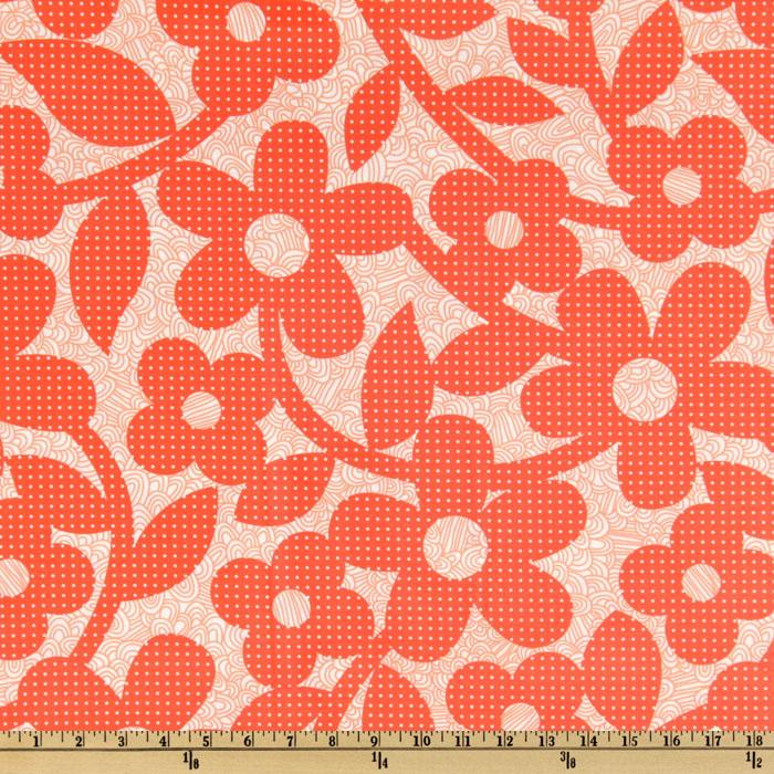 Weekends Laminated Cotton Dots & Loops Red