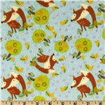 Friendly Fox Flannel Fox Toss Blue