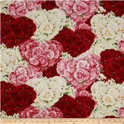 Bed of Roses Packed Heart Floral Multi
