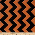 0296451 Riley Blake Medium Chevron Orange/Black
