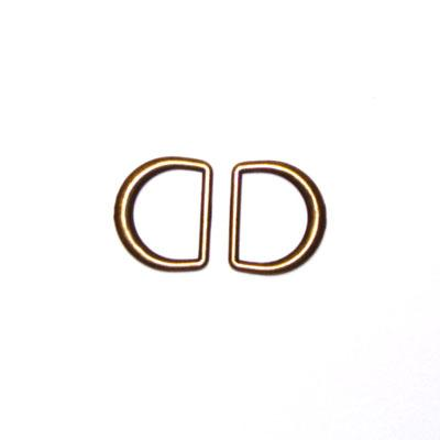 "Antique Gold D-Rings 3/4"" 2/Pkg"