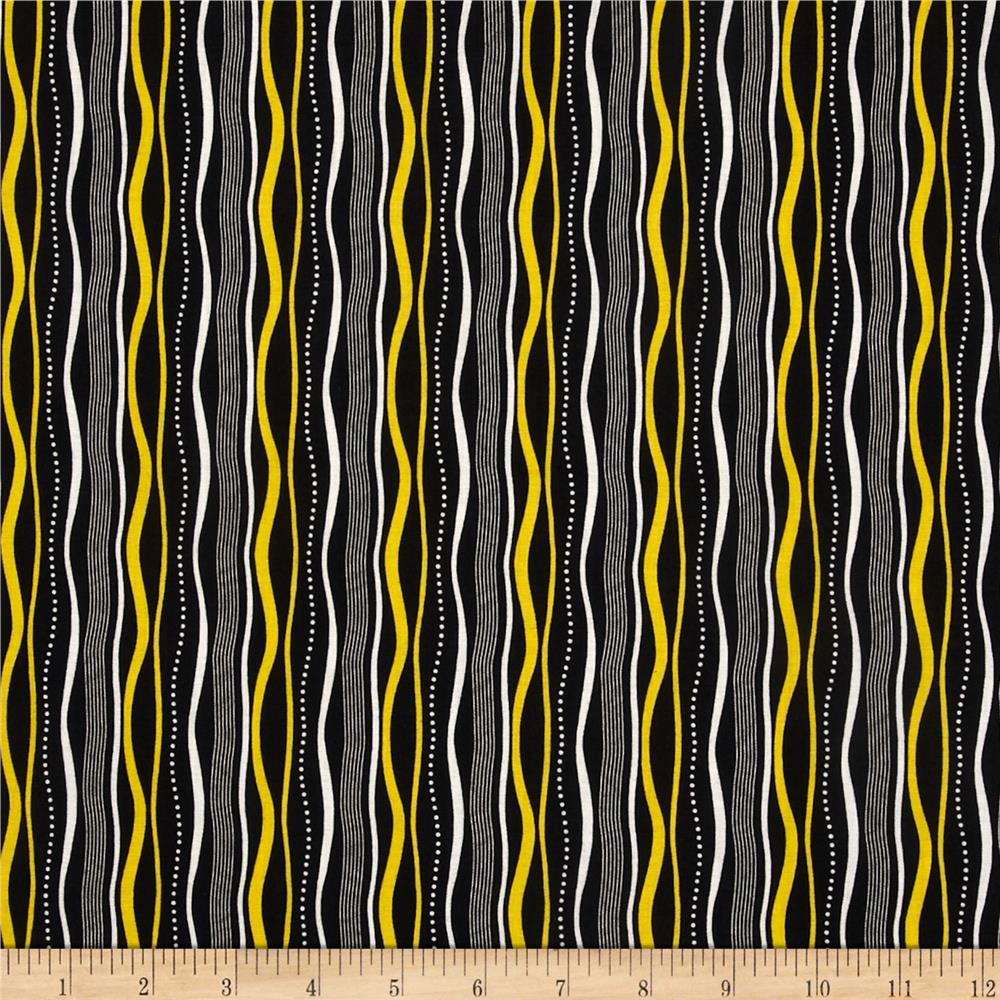 Sunburst Contempo Wavy Stripes Black