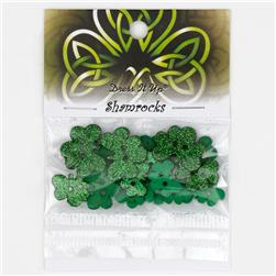 Dress It Up Embellishment Buttons  Shamrocks