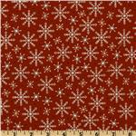 Jolly Christmas Snowflakes Red