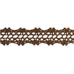 "5/8"" Crochet Lace Trim Brown"