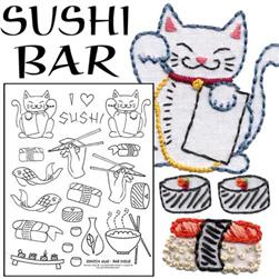 Sublime Stitching Sushi Bar Embroidery Transfer