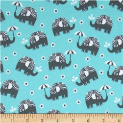 Michael Miller Pastel Pop It's A Boy Thing Flannel Water for Elephants Aqua