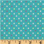 Stitched Garden Dots Blue