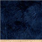 Faux Fur Luxury Shag Navy