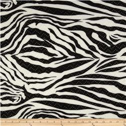 Stretch ITY Jersey Knit Shimmer Animal Zebra White/Black