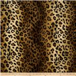 Velboa Faux Fur Leopard Brown/Black