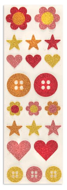 Martha Stewart Crafts Button Glitter Stickers
