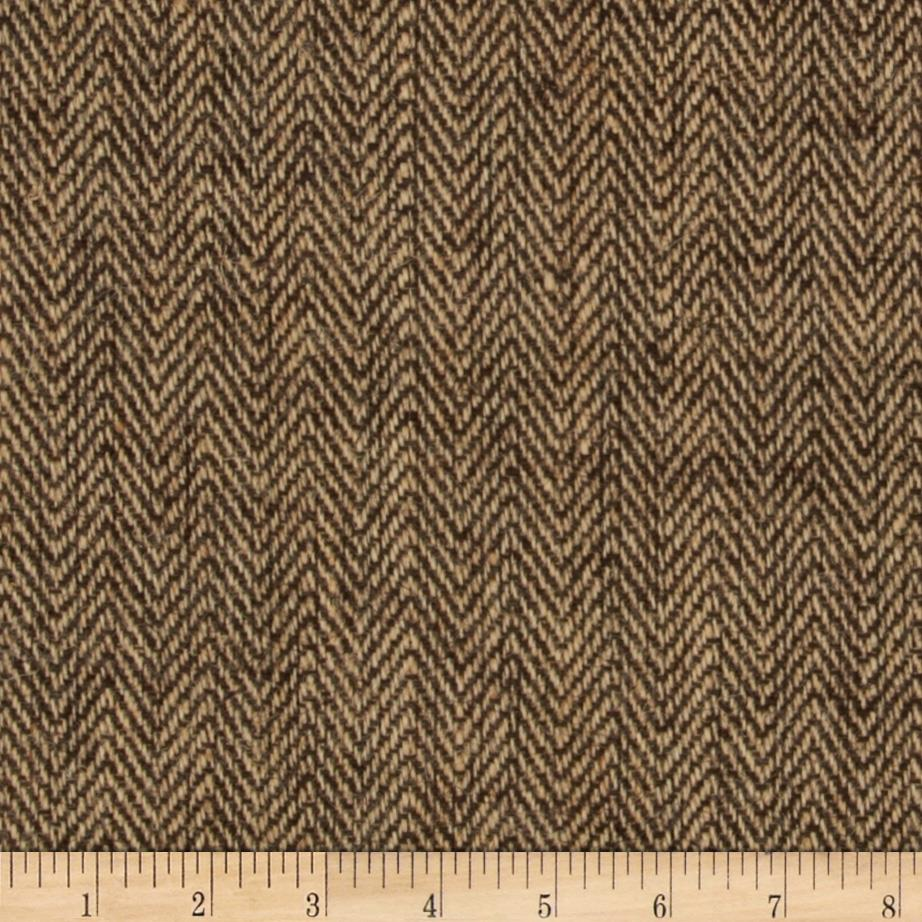 "48"" Chevron Burlap Natural/Brown"