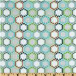 227930 Riley Blake Life In The Jungle Hexagons Blue