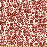 Premier Prints Indoor/Outdoor Royal Suzani American Red