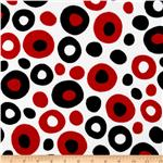 Celebrate Seuss! Minky Wonky Dots Cherry/Black