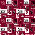 BN-754 Collegiate Fleece University of Oklahoma Blocks